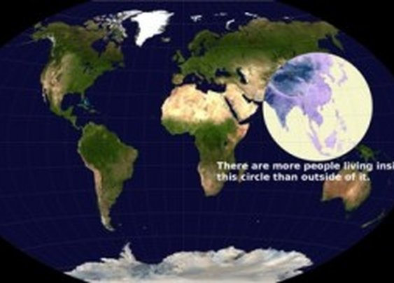 More than Half of the World's Population Lives Inside this Circle