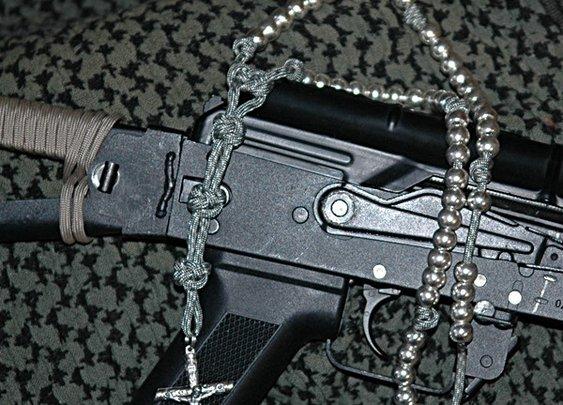 Gray Digi Camo Rosary   CordBands
