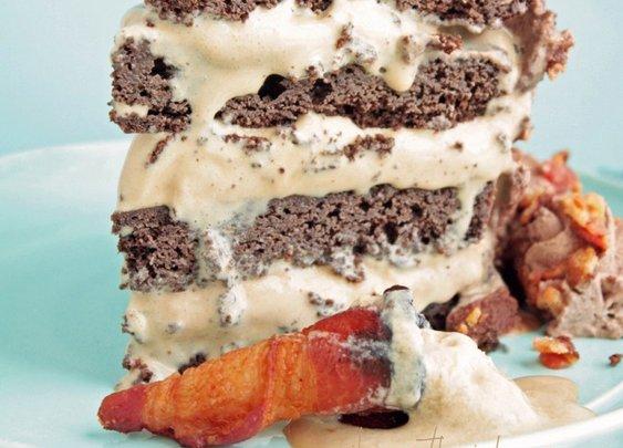 Bacon Chocolate Mocha Ice Cream Cake - Low Carb & Gluten Free - I Breathe... I'm Hungry...