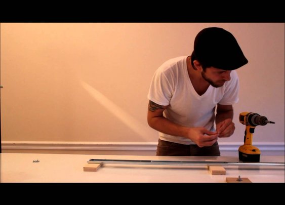 DIY  glide track / camera slider  tutorial - YouTube