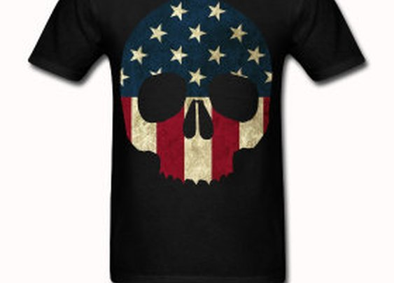 American Skull T shirt by StuffoftheDead on Etsy