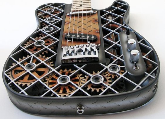 Steampunk 3D Printed Guitar by Odd Guitars