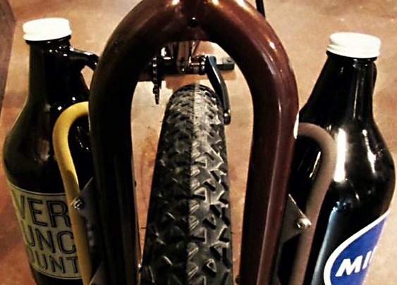 Growler Cage Carry Beer on a Bike | Cool Material