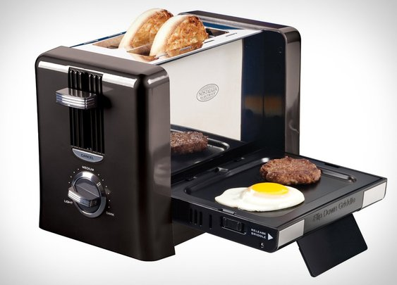 Flip-Down Breakfast Toaster | Uncrate