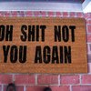 Oh Shit Not You Again Coir Doormat