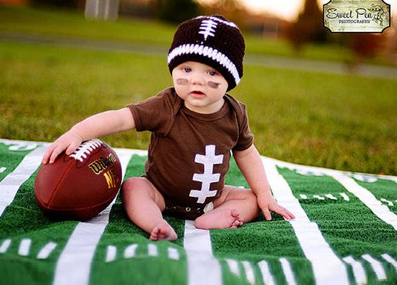 Boy Touchdown Football Onesie Set