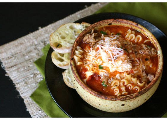 Lasagna Soup >> just made this for dinner. Insanely good.