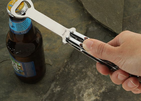 Butterfly Knife Bottle Opener