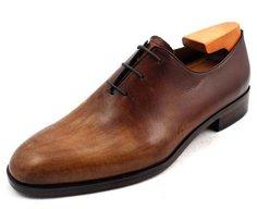 Bespoke handmade custom hand-painted men's leather shoes