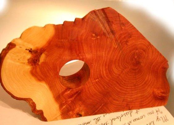 Rustic natural cedar gravity defying wine rack by Hope & Grace Pens