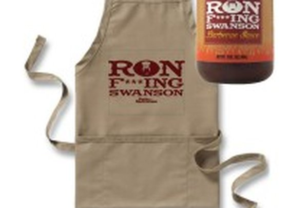 Ron F***ing Swanson BBQ Sauce and Apron | NBC