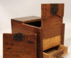 Japanese Merchant's Chest with Secret Compartment   StashVault