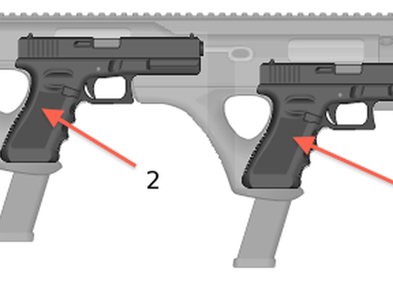 Never-Empty Double Gun (NEDG) Carbine Stock For Two Pistols