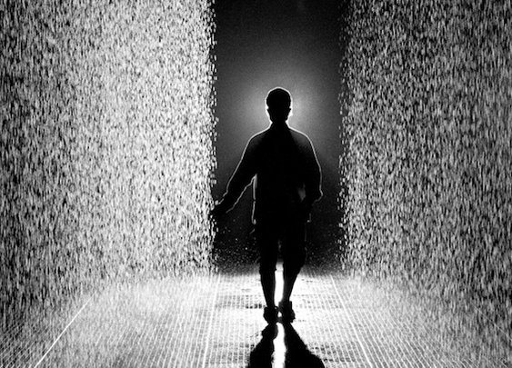 Mystical Indoor Rain Room Where Visitors Don't Get Wet