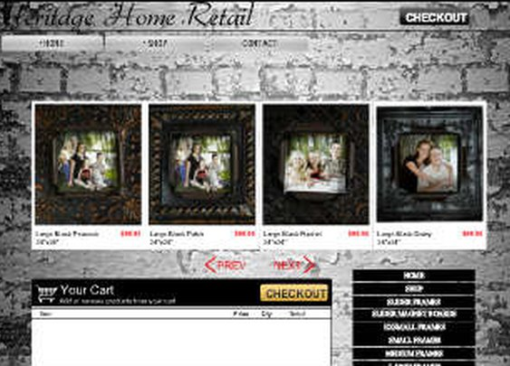 Wix.com Heritage Home Retail created by boulderinnovations based on My Lil Collection