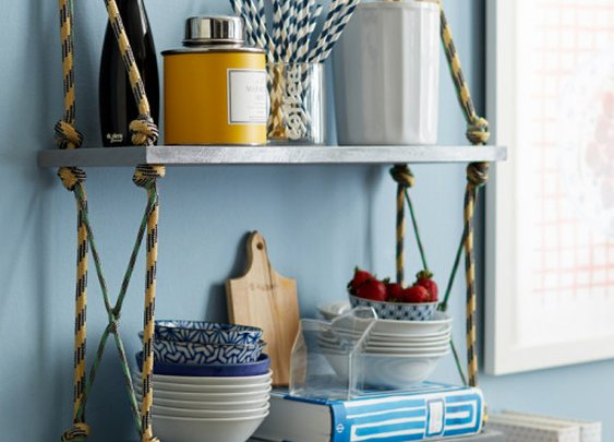 Rope Shelves DIY Project