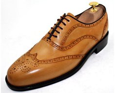 Custom Made to Measure Wingtip Brogue Oxford Shoes