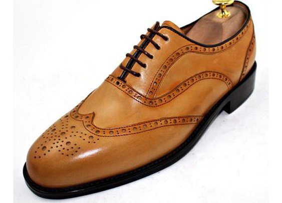 Custom Made to Measure Wingtip Brogue Oxford Shoes
