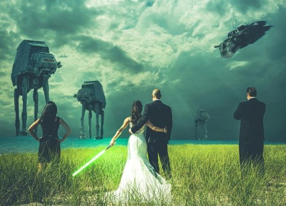 The Most Epic Star Wars Wedding Photo…Ever