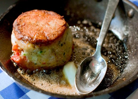 Surf 'n turf that's all surf, from Chef David Burke. See how to make lobster steak. | Food Republic