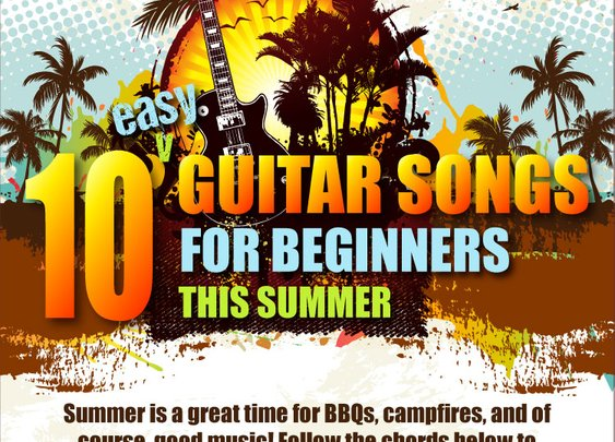 10 Easy Guitar Songs for Beginners This Summer [Infographic] | TakeLessons