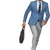 Jacket Light Blue Plain Washington C553 | Suitsupply Online Store