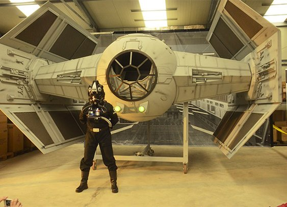 German Fanboys Build Amazing Half-Scale Darth Vader's Tie Fighter