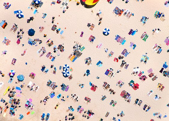 Aerial Beach Photographs by Gray Malin