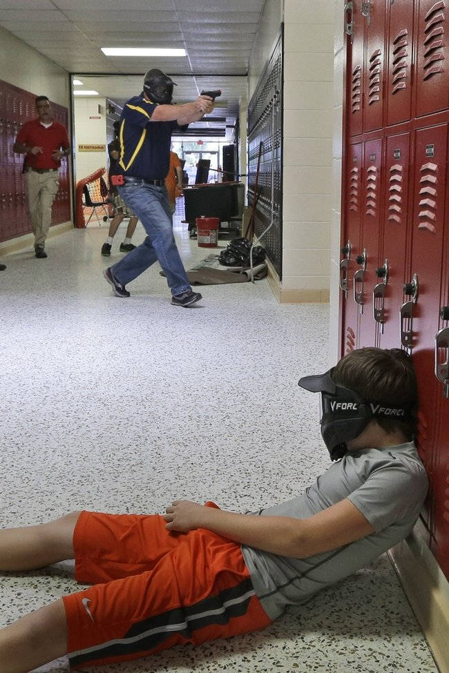 "guns in school ""school districts considering arming teachers and school staff with guns would take on significant responsibility and potential liabilities that i firmly believe."