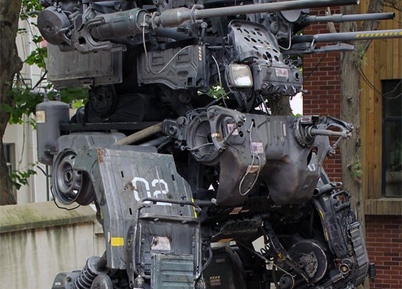 Dude Builds INSANELY Awesome Mech Out of Old Truck Parts