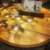 Barrelly Made It Bar Table from a Recycled Wine Cask