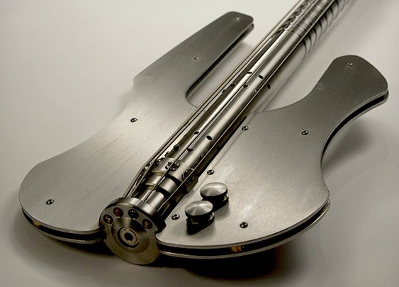 Stash Stainless Steel Bass Guitar | Cool Material