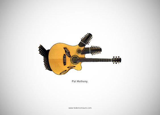 Famous Guitars by Federico Mauro