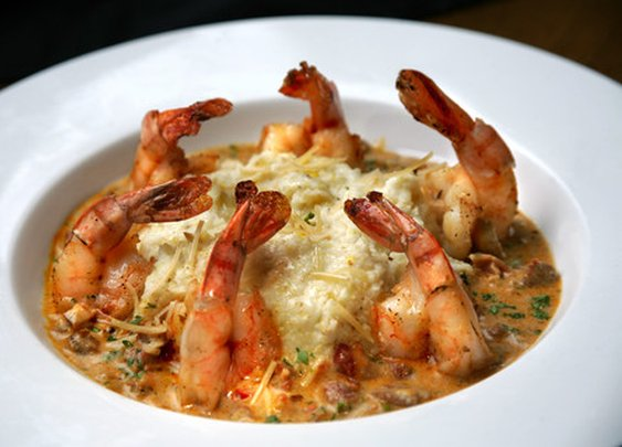 Baked BBQ Shrimp with Creamy Polenta | Red Stick Spice Company