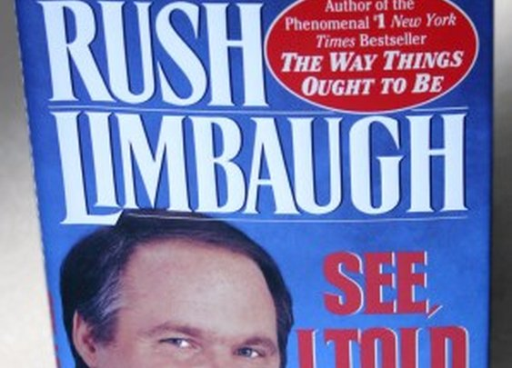 Rush Limbaugh book safe with hidden storage space by Hope & Grace Pens