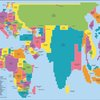 Map of the World in Proportion to Country Population