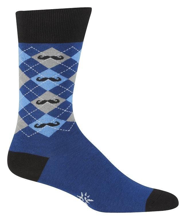 Super Manly Argyle Mustache Socks