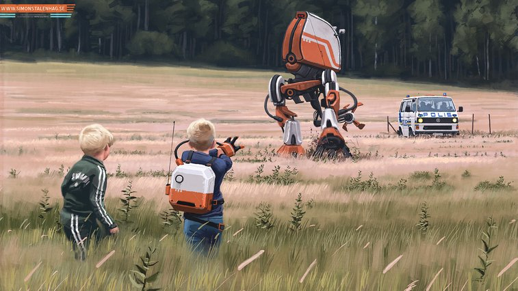 Simon Stalenhag Artwork | The Coolector