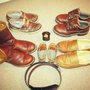 Its a Dads Life, Oiling leather at the millers tonight....