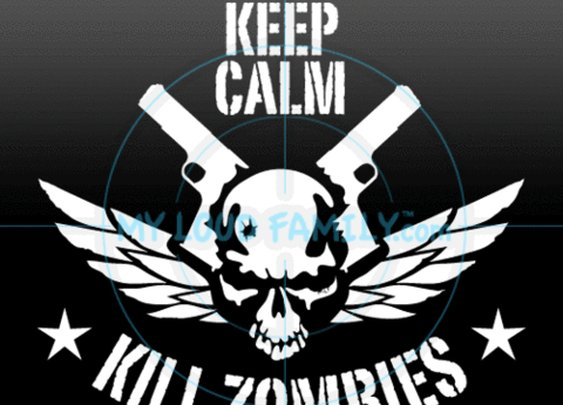 KEEP CALM KILL ZOMBIES SKULL | myloudfamily