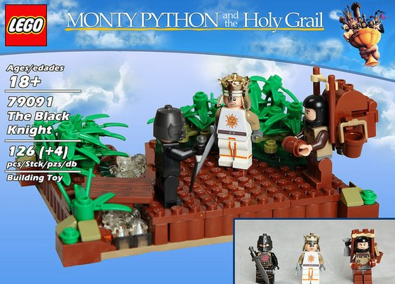 Unofficial LEGO 'Monty Python and the Holy Grail' Playsets