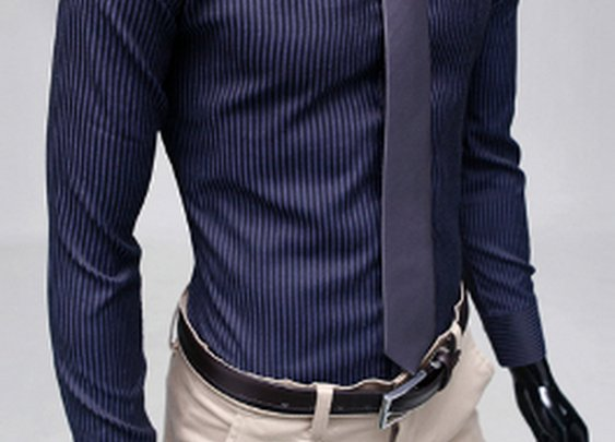 Men's Long Sleeve Tonal Stripe Shirt $24.95