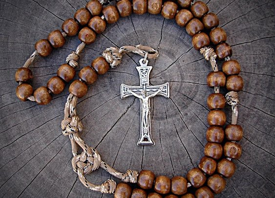 Desert Storm Rosary for Soldiers   CordBands