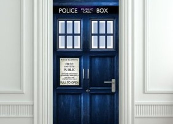 Doctor Who Police Box Door Decal