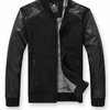 Men's Bomber Jacket with Faux Leather Sleeves $34.95.