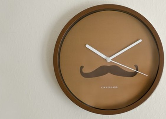 Buy Mustache wall clock / Gift for home & office