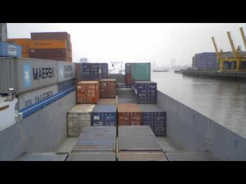 Time-Lapse of the Ms-Renata Container Ship in Rotterdam