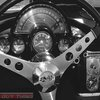 Corvette Vintage Car Photography Black and White Art by GuyThing