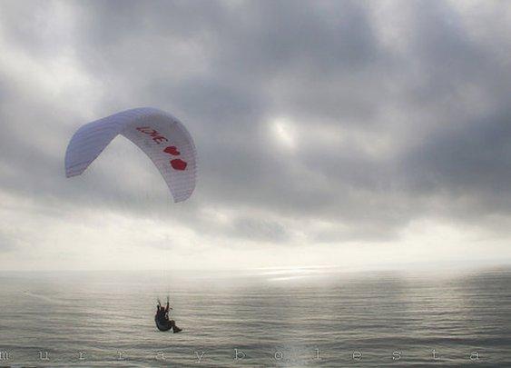 San Diego Photo Seaside Artworks Paraglider Ocean by MurrayBolesta