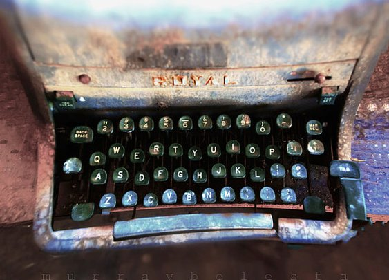 Photography Typewriter Art Royal Vintage Antique by MurrayBolesta